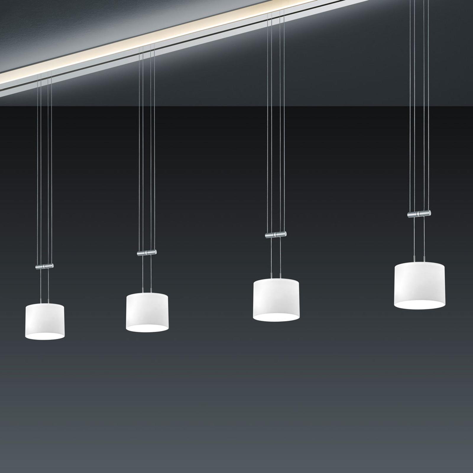BANKAMP Strada Gracia sospensione 4 luci, 185 cm