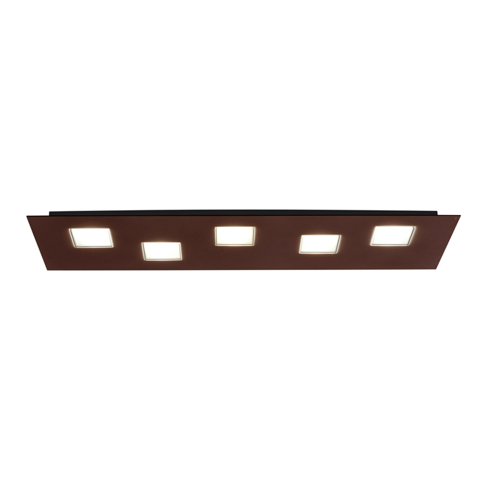 Plafoniera LED Quarter marrone lunga 70cm