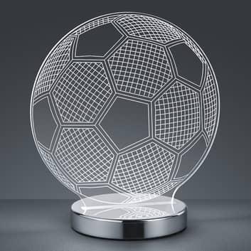 Bordlampe Ball med 3D-hologram – valgbar lysfarve