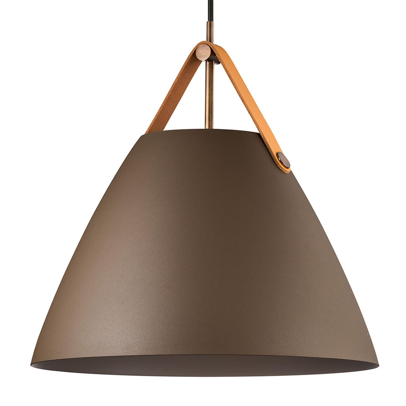 Hanglamp Strap met metalen kap beige, 36 cm