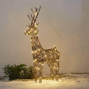 Dekorativ LED-ren Rudi för utomhus 83 cm
