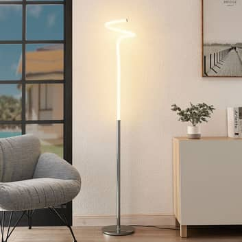 Lucande Serpentina LED-golvlampa i krom