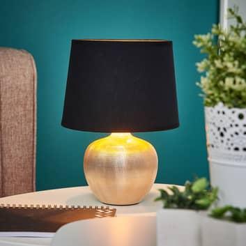 Lámpara de sobremesa Thorina en negro y dorado
