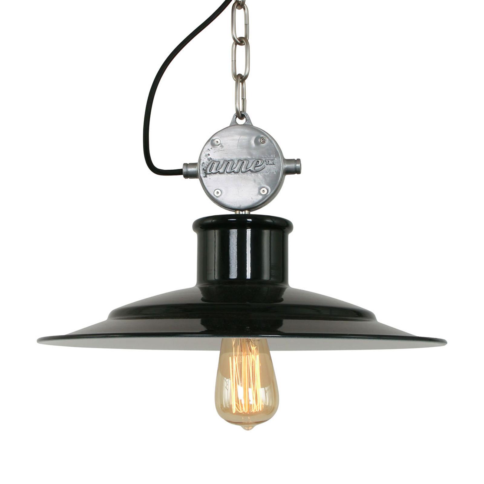Milstone - industrialna lampa wisząca, czarna