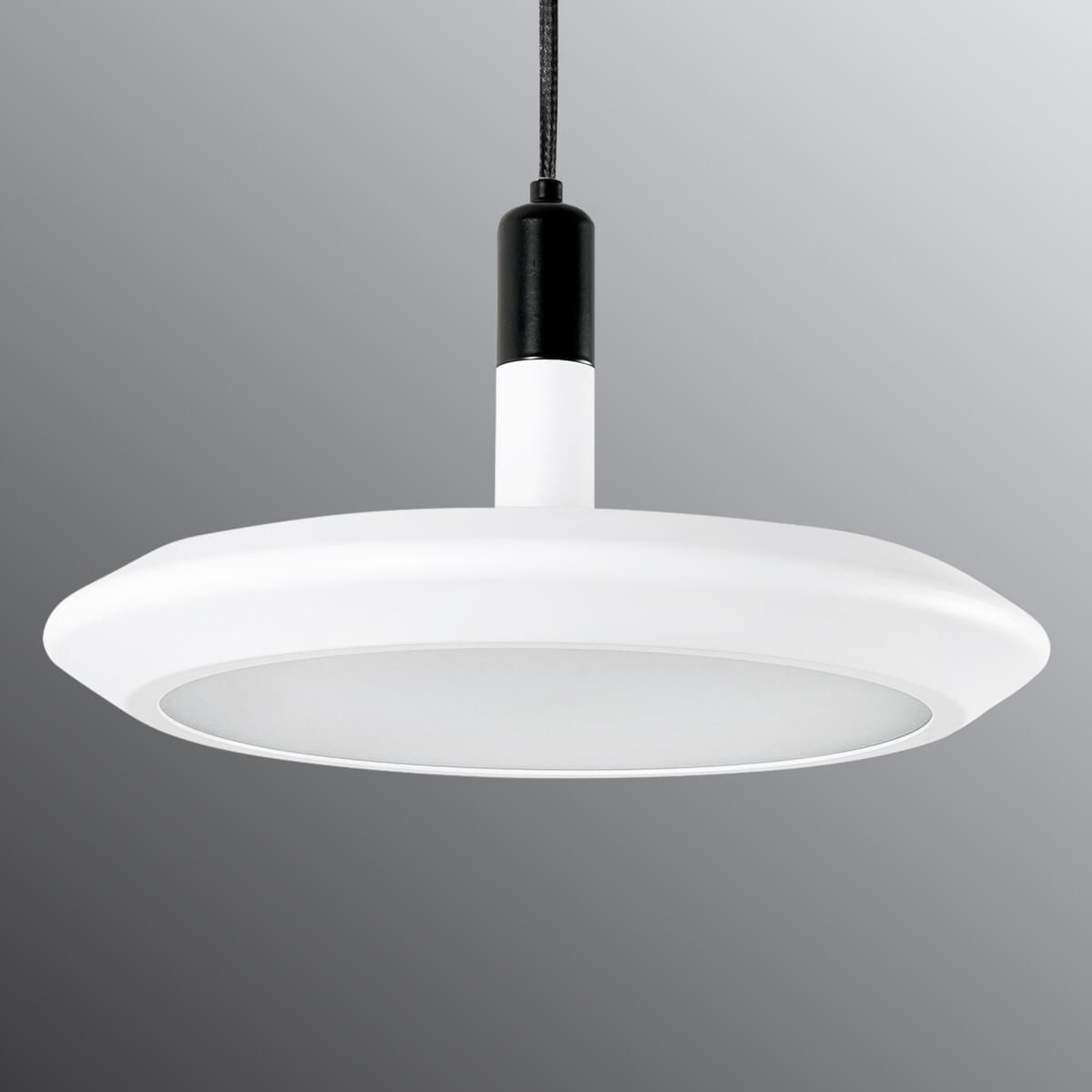 Planeet - ronde LED hanglamp in wit