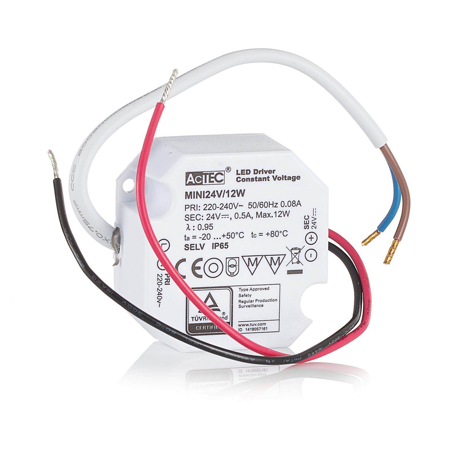 AcTEC Mini LED-driver CV 24 V, 12 W, IP65