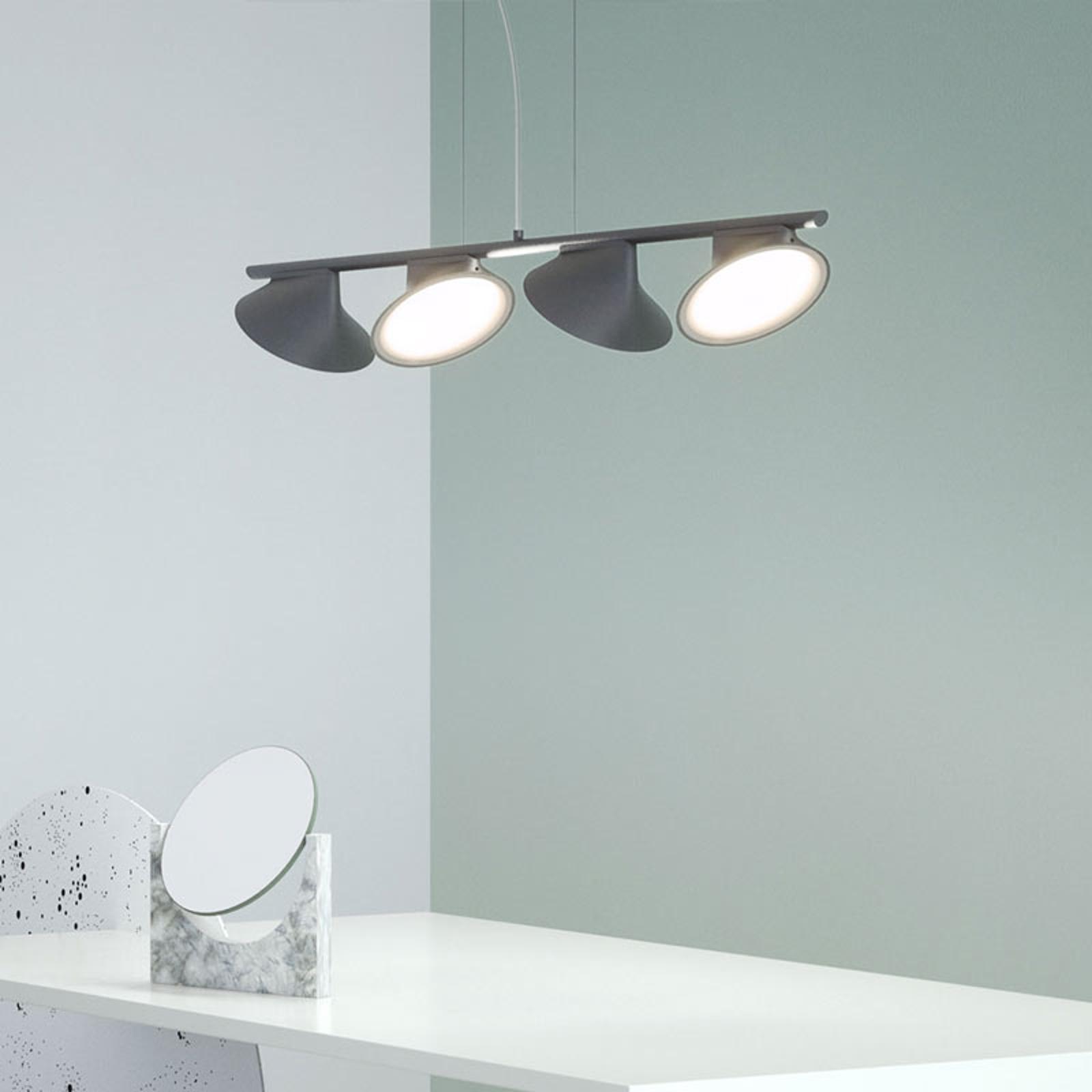 Axolight Orchid LED hanglamp 4-lamps grijs