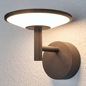Antracitfarvet udendørs LED-væglampe Fenia