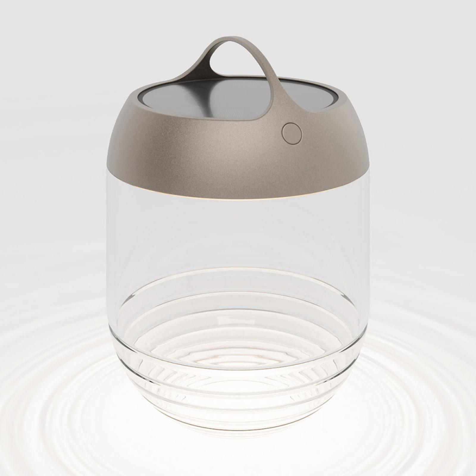 IP44.de aqu M lampa solarna LED, 35 cm brązowa