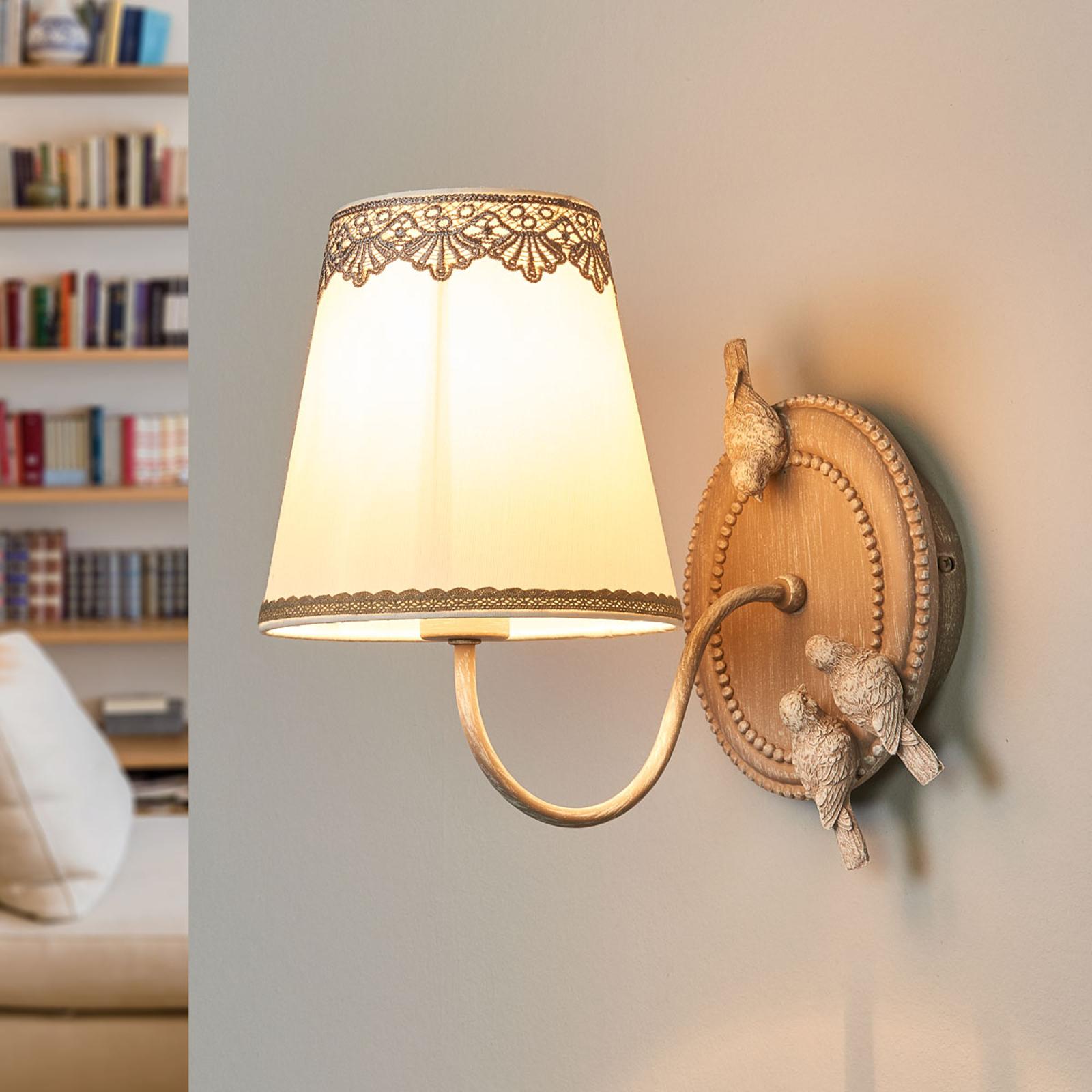Bouquet - wandlamp met schattige kanten boord