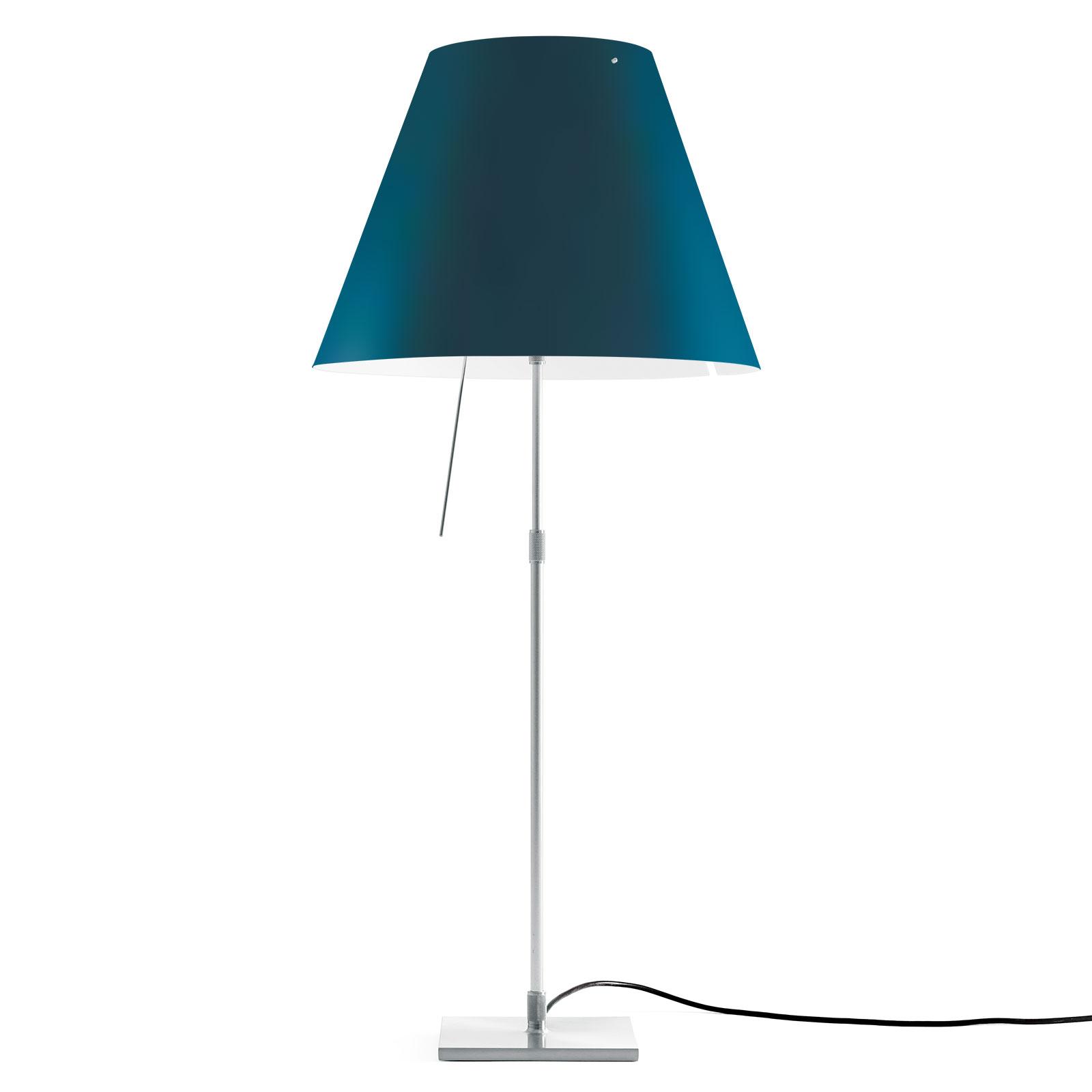 Luceplan Costanza lampe à poser D13i alu/bleue