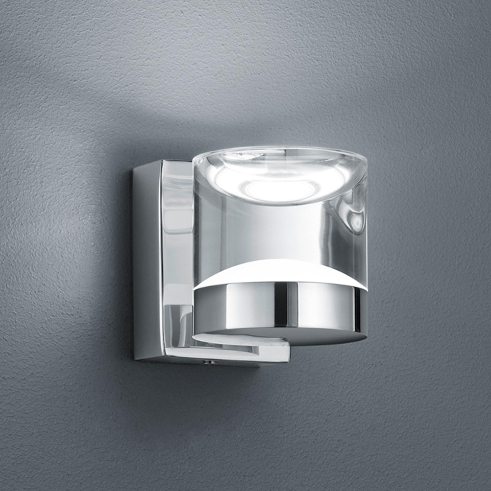 Glänsande förkromad LED-badrumsvägglampa Brian