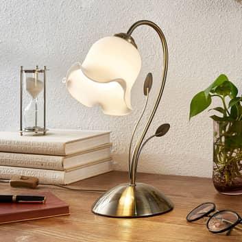Floralt utformet bordlampe Matea