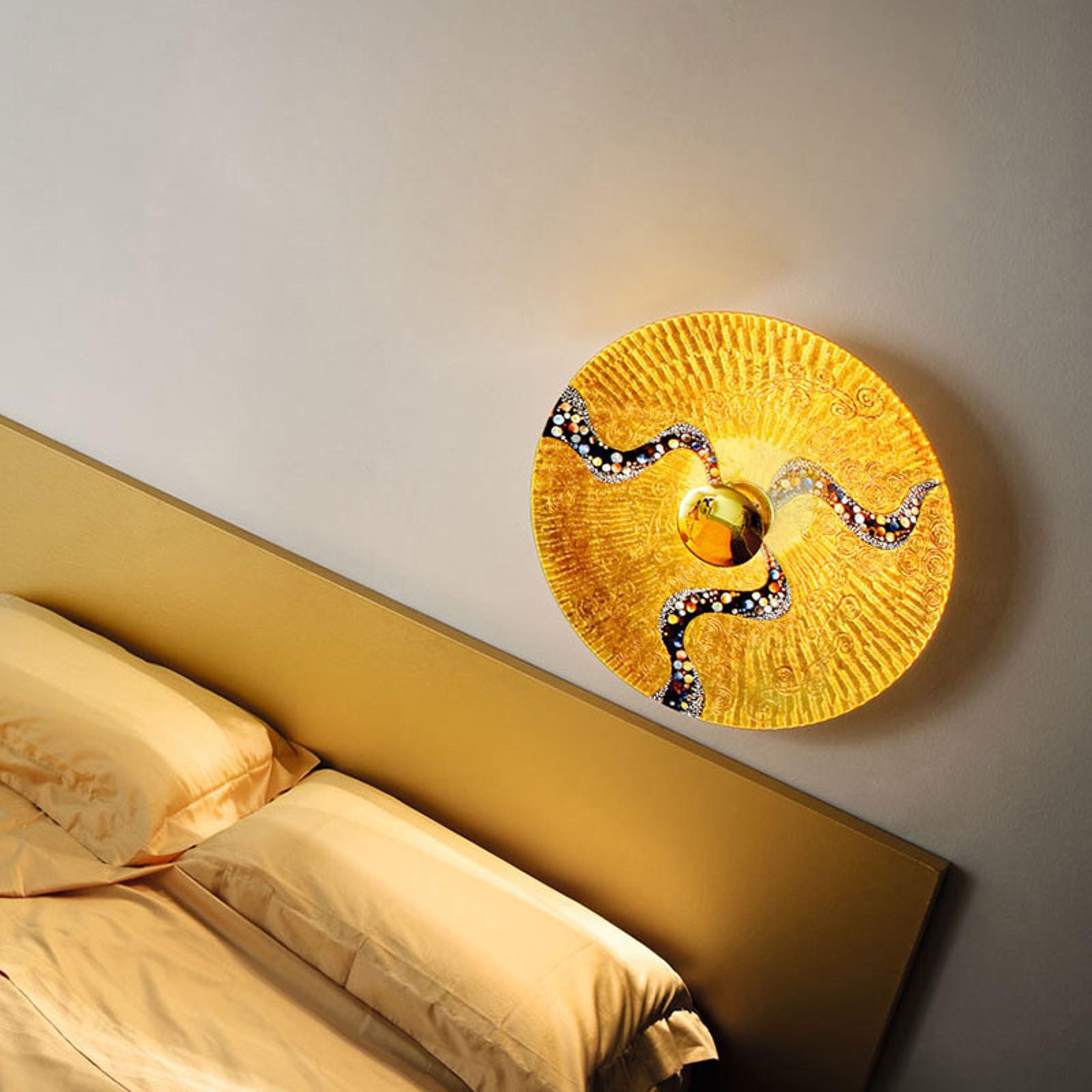 KOLARZ Luna Kiss Gold væglampe, 24 kt, Ø 54 cm