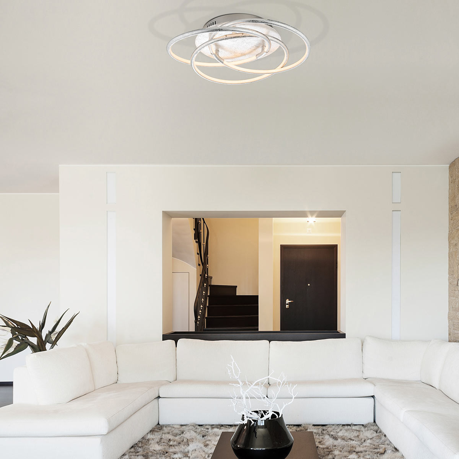 Plafoniera LED Barna color argento
