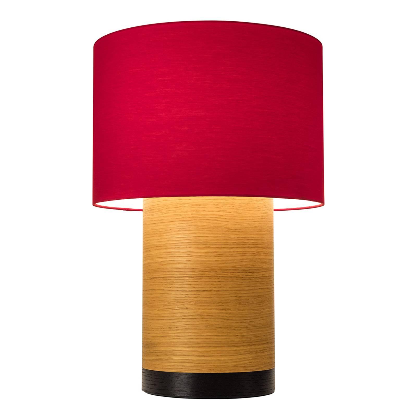 Lampe à poser Klippa XL noir chintz framboise
