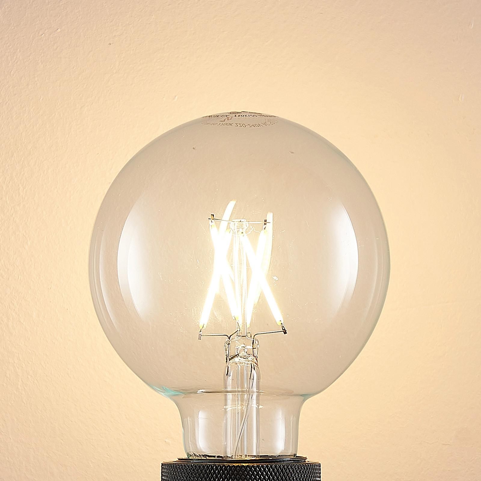 LED-Lampe E27 4W 2.700K G95 Globe, Filament, klar