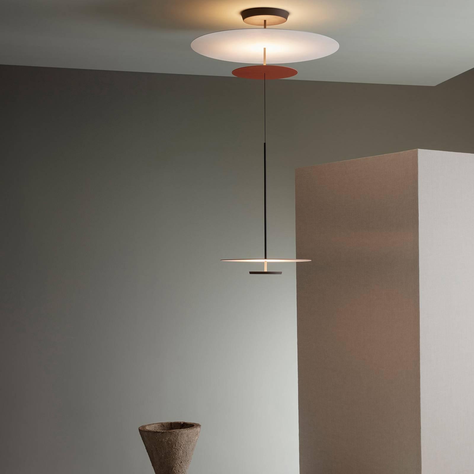 Vibia Flat suspension LED 3 l. Ø 90cm terracotta