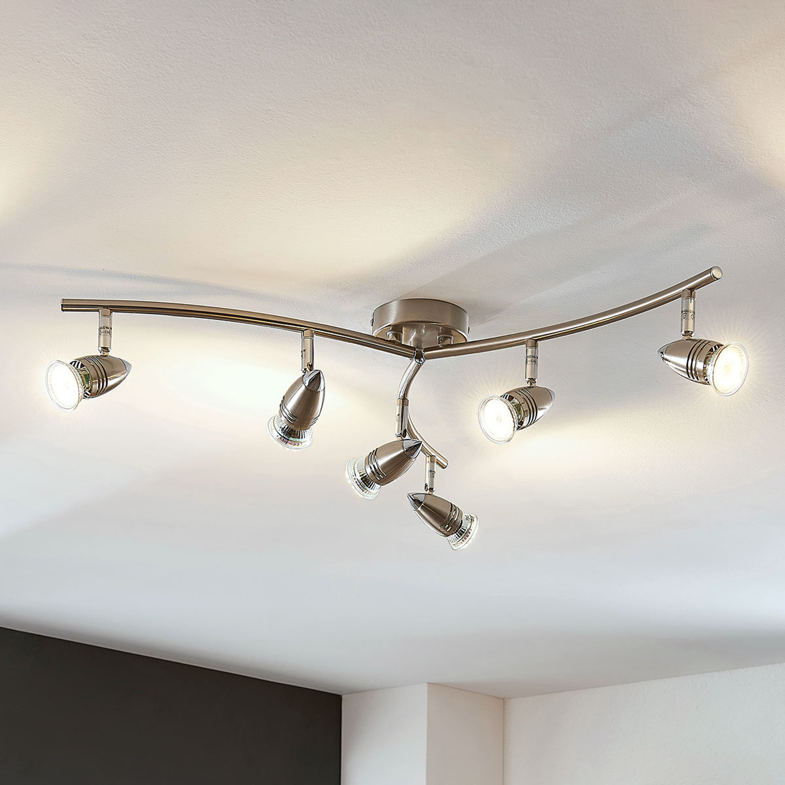 Faretto da soffitto LED Benina a 6 luci