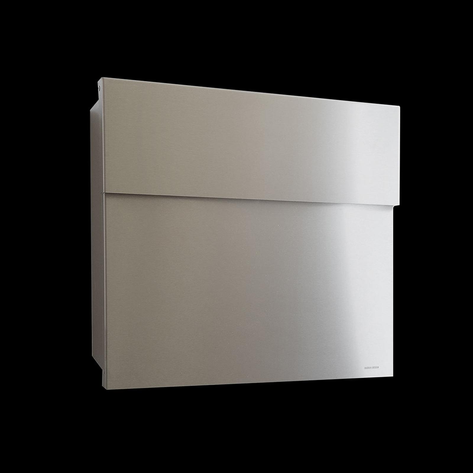 Buzón de diseño Letterman IV, acero inox.