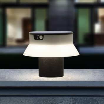 LED sokkellamp solar Felice zwart CCT sensor