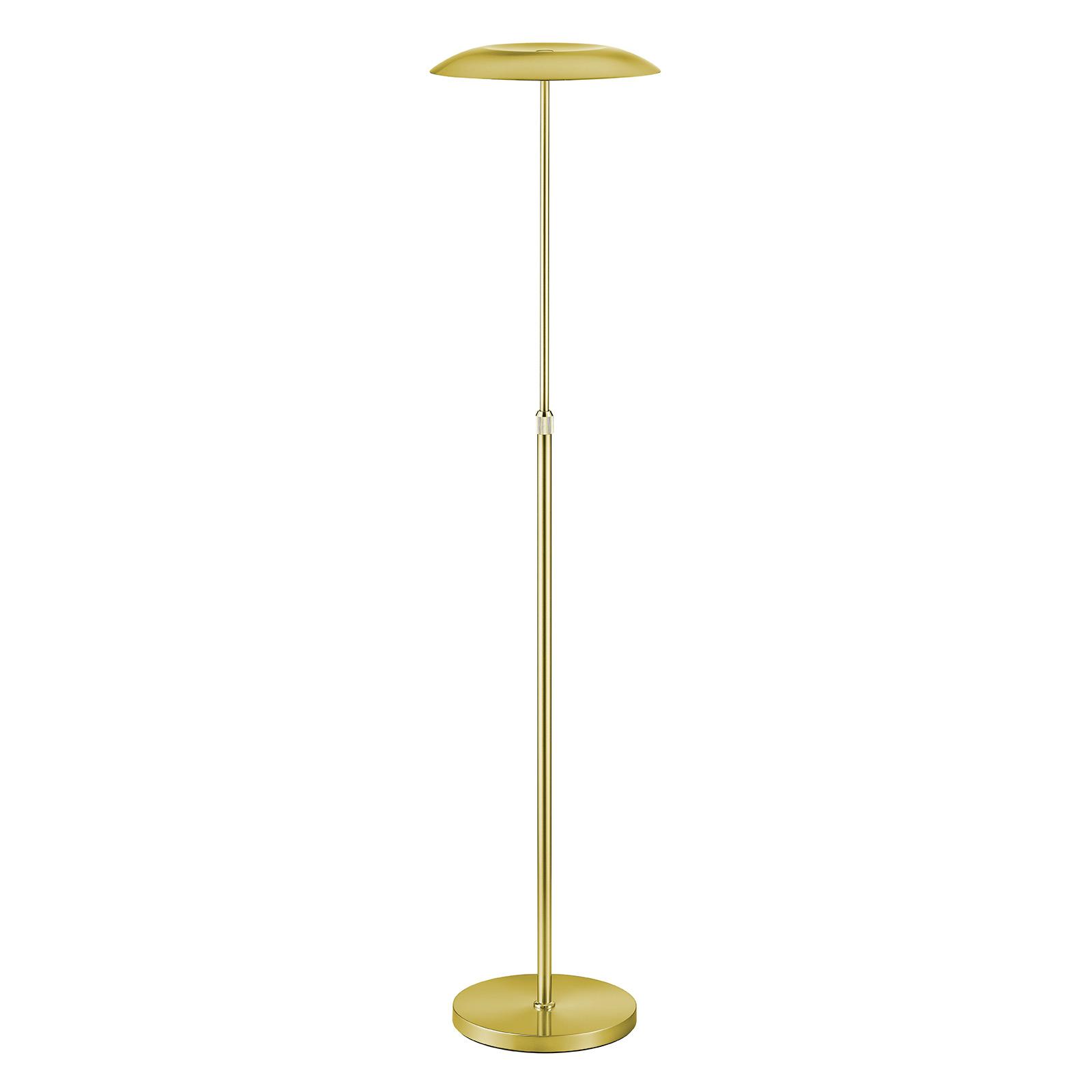 B-Leuchten Curling lampa stojąca LED mosiądz
