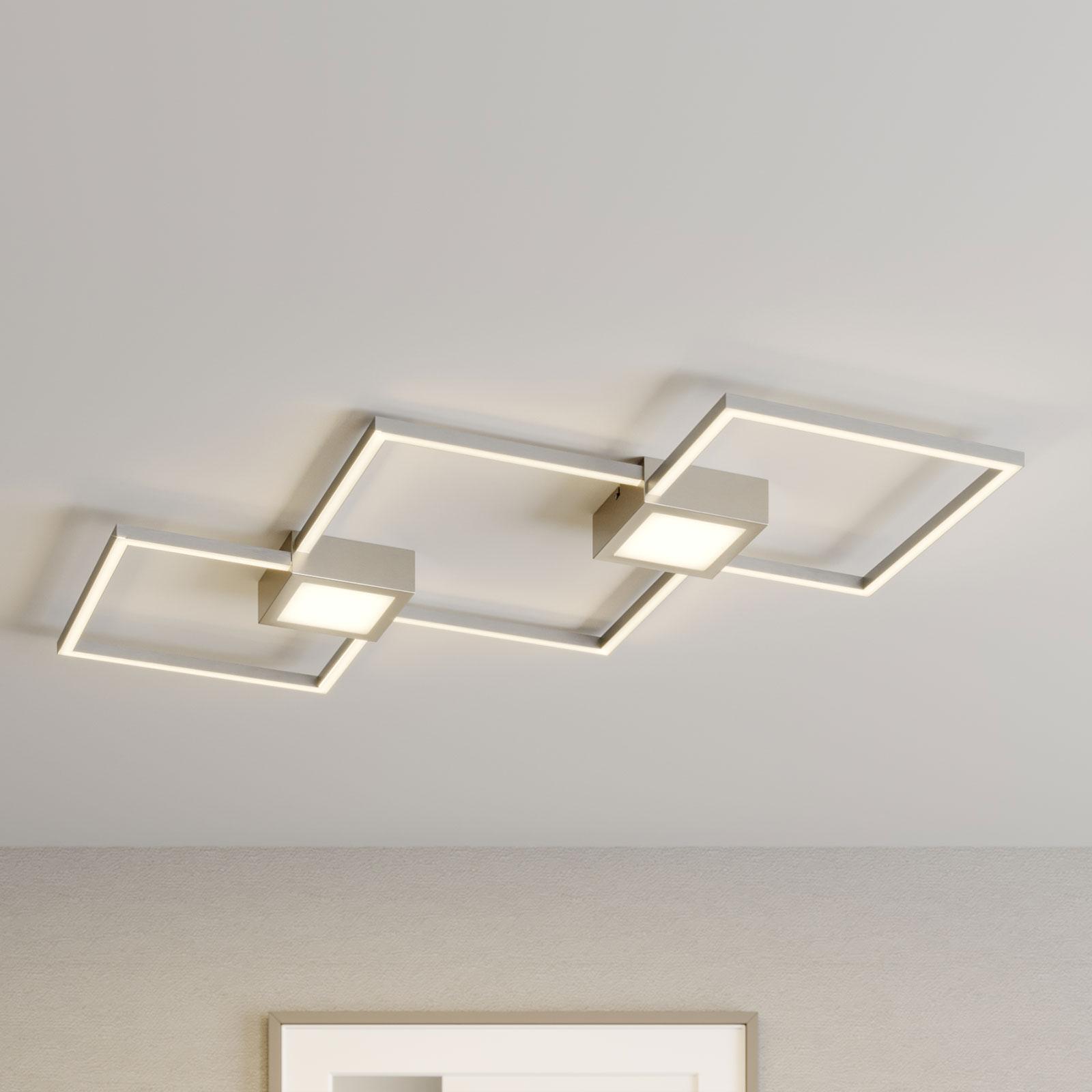 Lindby Makoto LED plafondlamp, 2-lamps, dimbaar