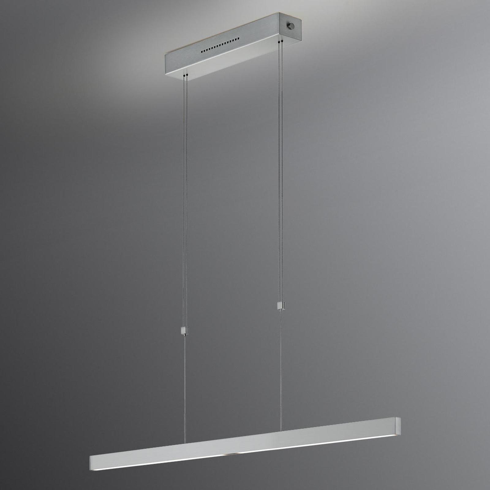 LED hanglamp Pia gebarensensor nikkel mat 68 cm