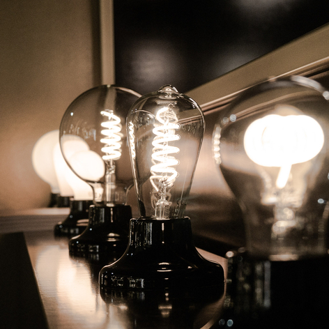 SEGULA LED E27 8 W ST64 Curved ambient trasparente