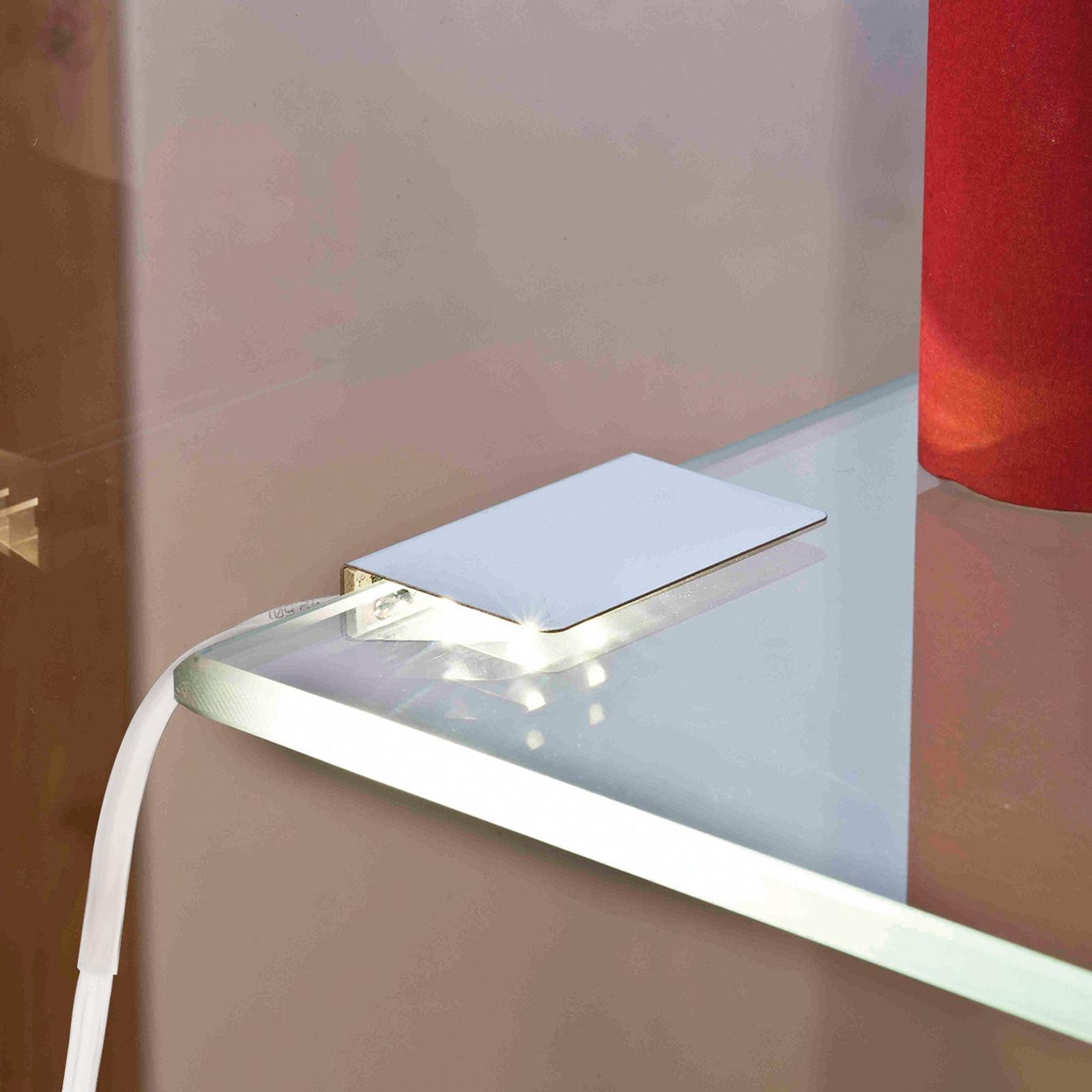 Glassplatebelysning LED_klips dobbelpakk varmhvit