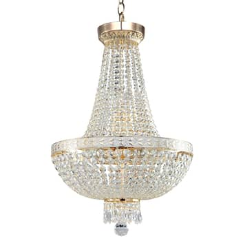 Ljuskrona Bella med yppiga hängen