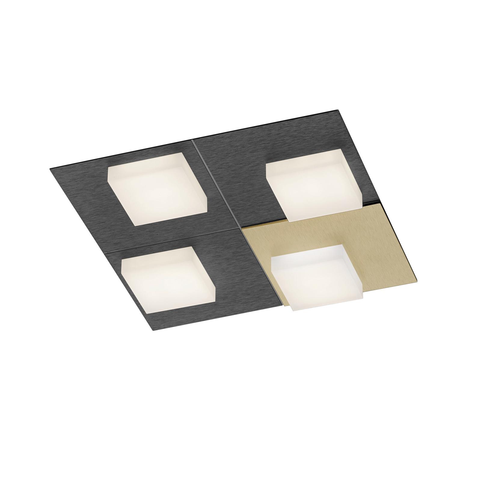 BANKAMP Cube loftlampe 32 W, 28x28 cm, antracit
