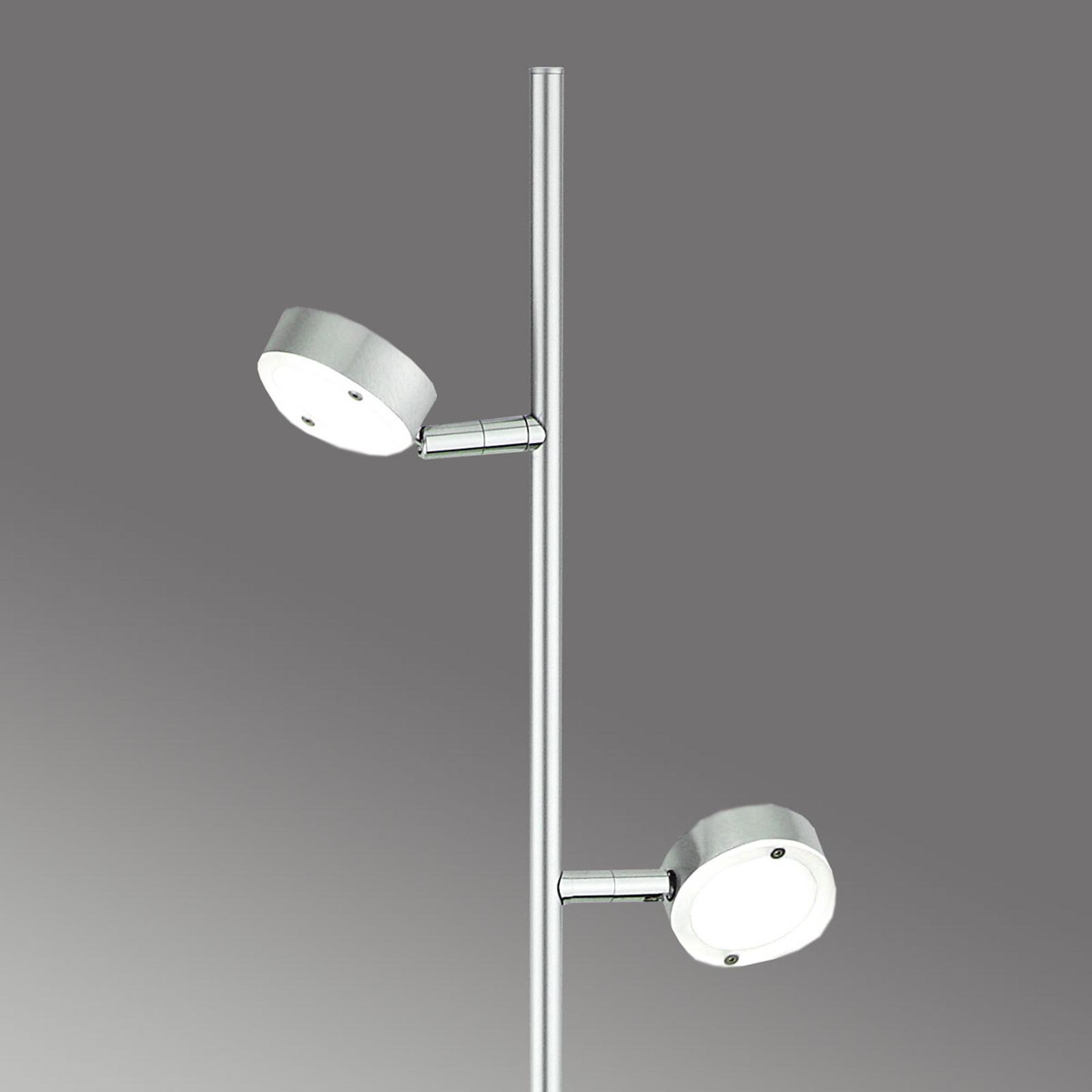 Minimalistinen LED-lattiavalo SATURN, 2-lamppuinen