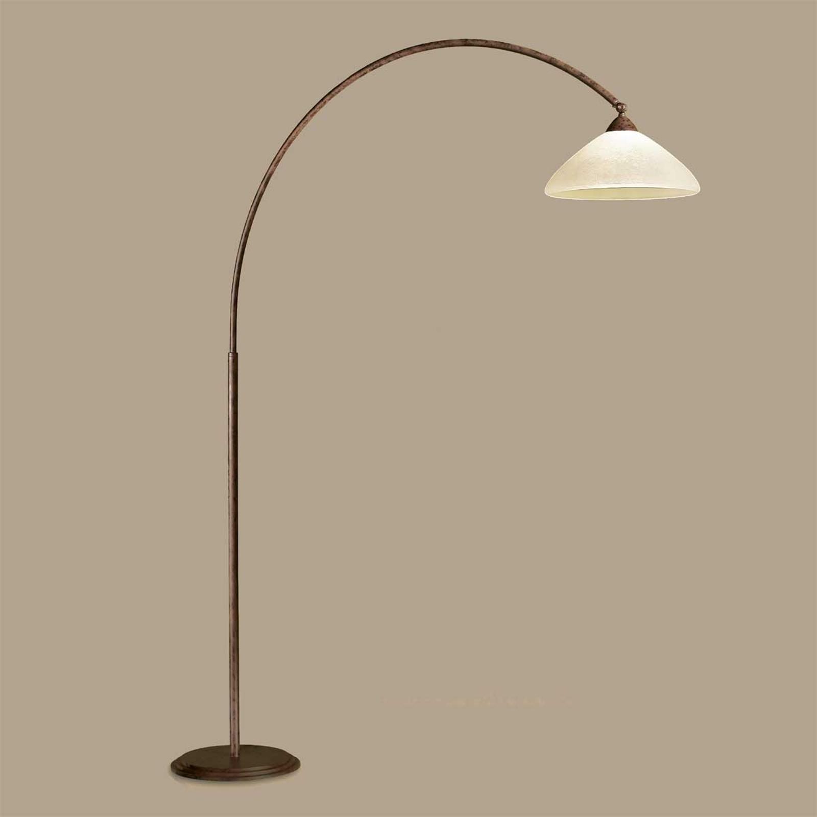 Båglampa Samuele, djup 165 cm, scavo-brun