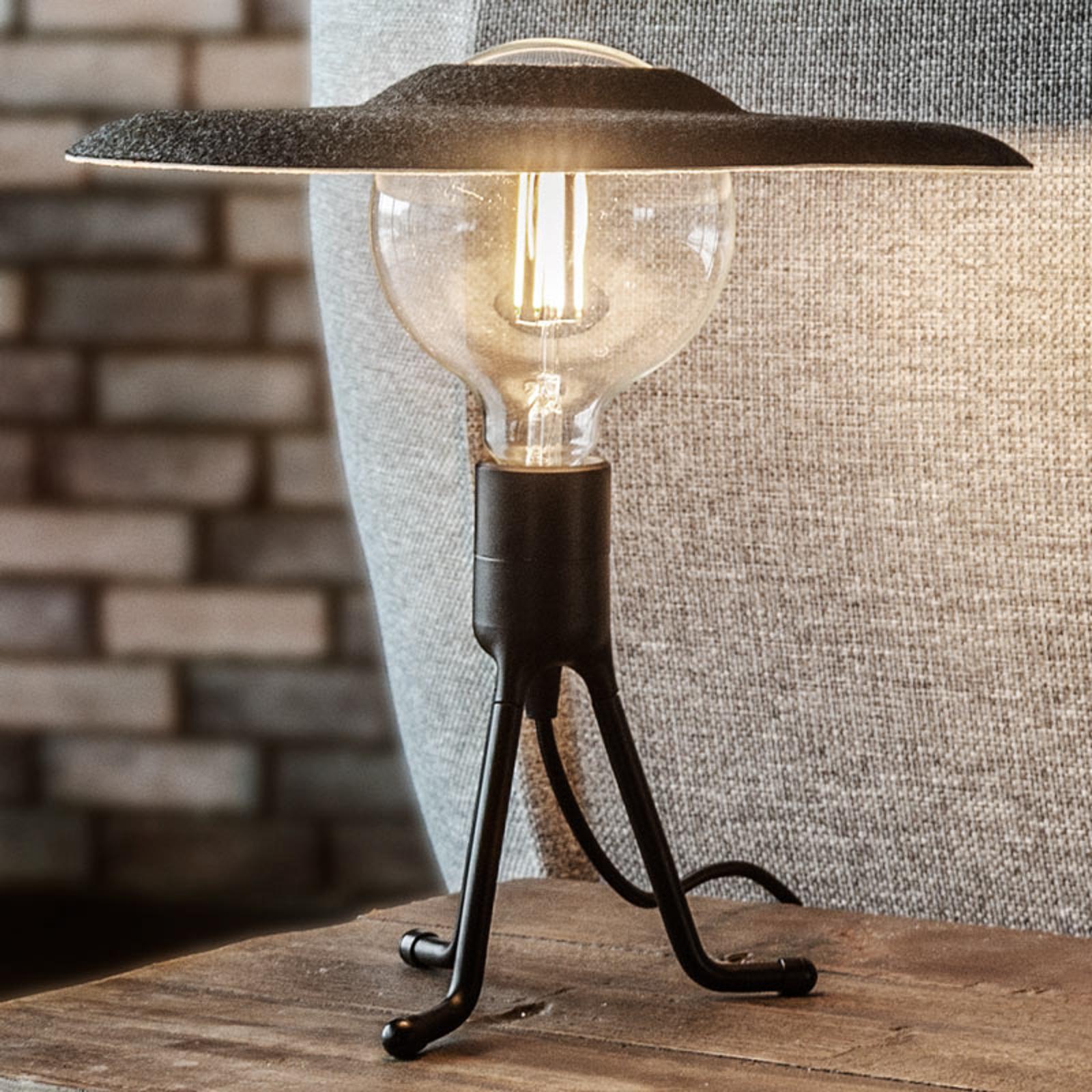 UMAGE Shade lampe à poser noire/feutre