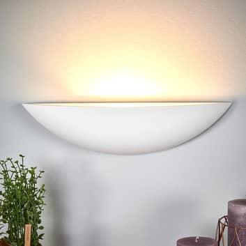 Schaalvormige gipsen wandlamp Guilia