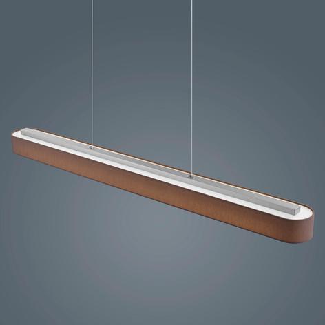 Helestra Bora – hnědé závěsné LED světlo