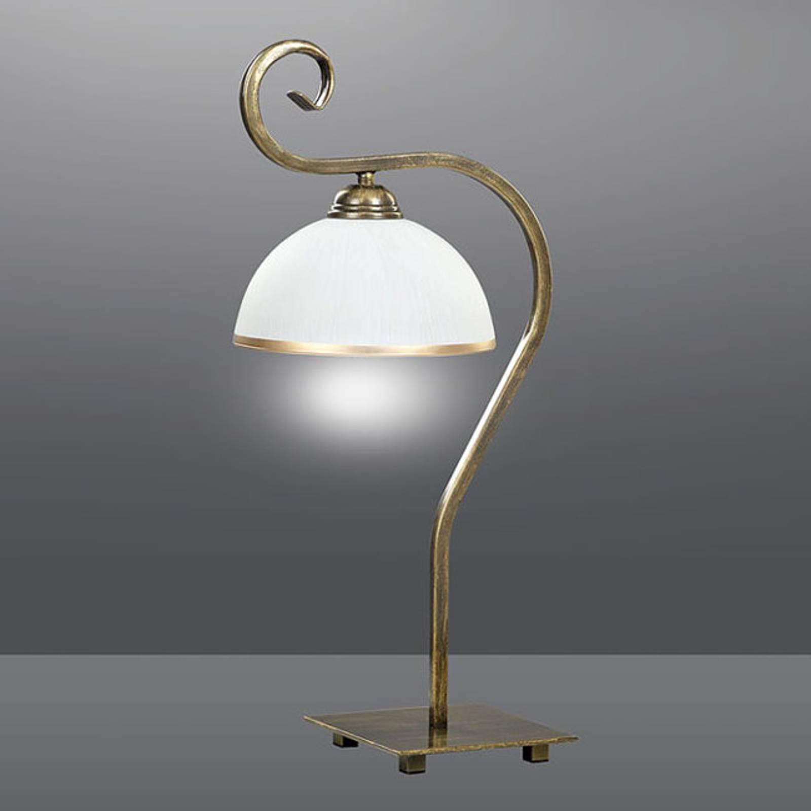 Tafellamp Wivara LN1 in klassiek-ontwerp, goud
