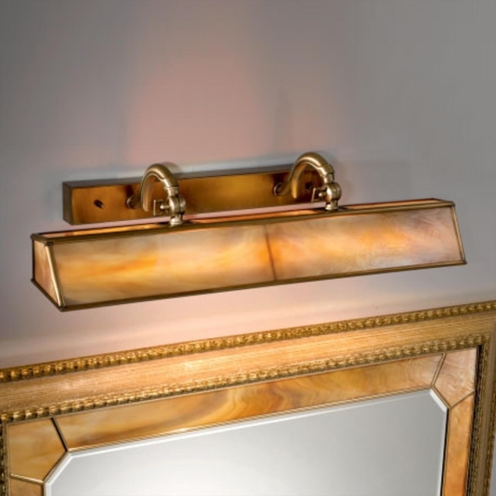 Klassisk bordslampa Galleria, ambra/mässing