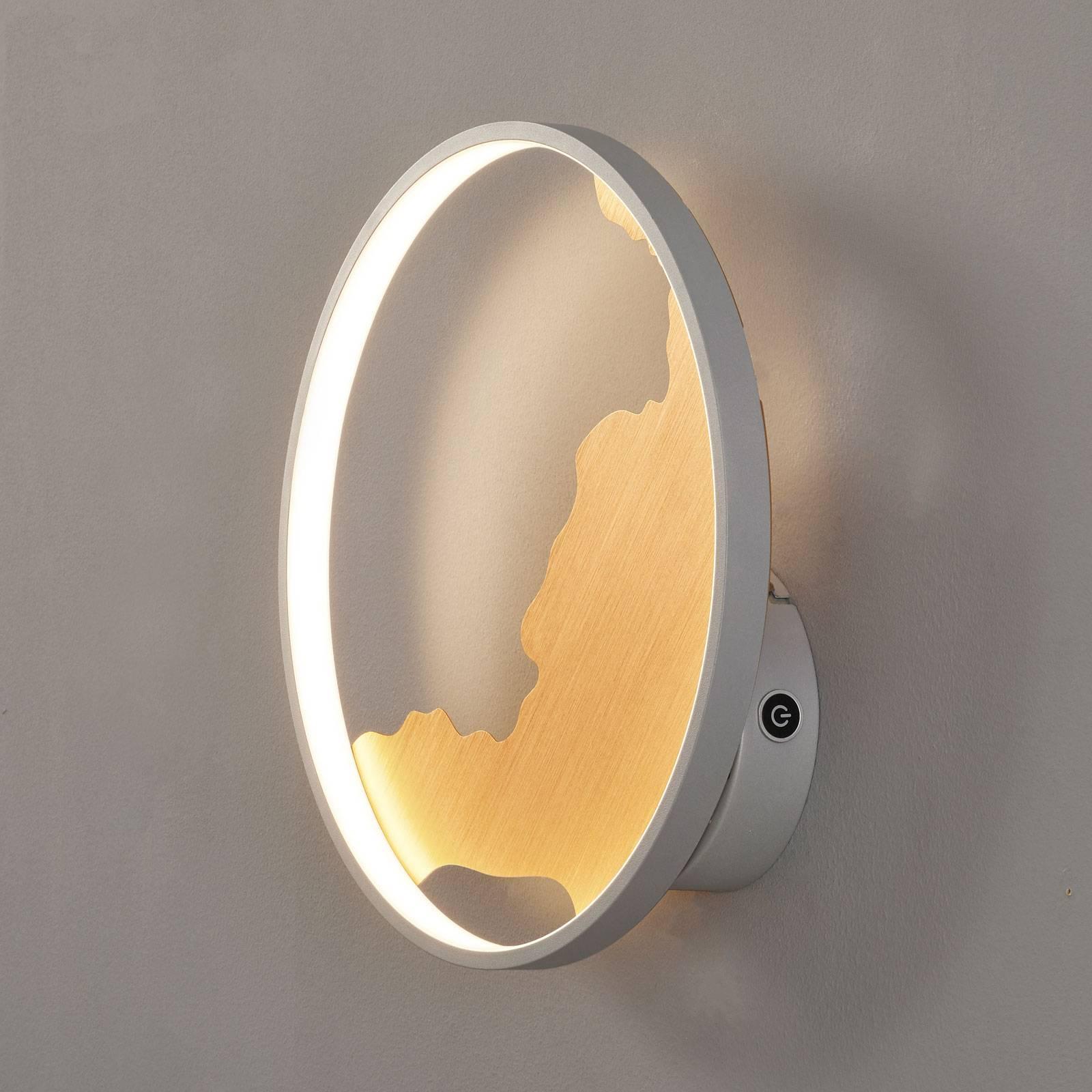 LED wandlamp Modesto met gouden decoratie