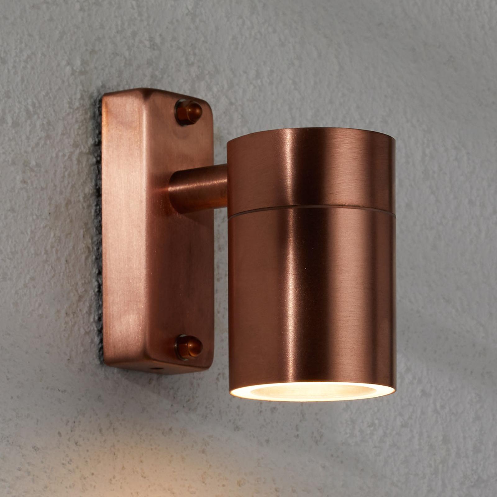 Moderne Kupfer-Außenwandleuchte Tin