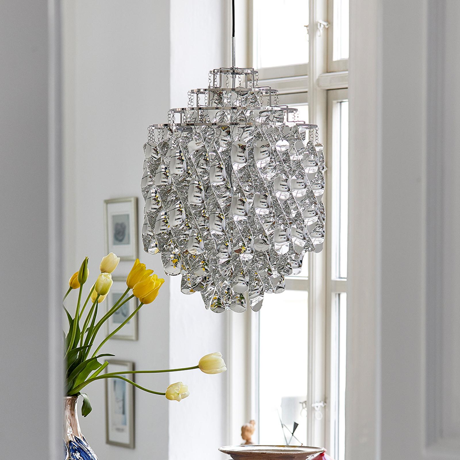 VERPAN Spiral SP01 - lampa wisząca srebrna