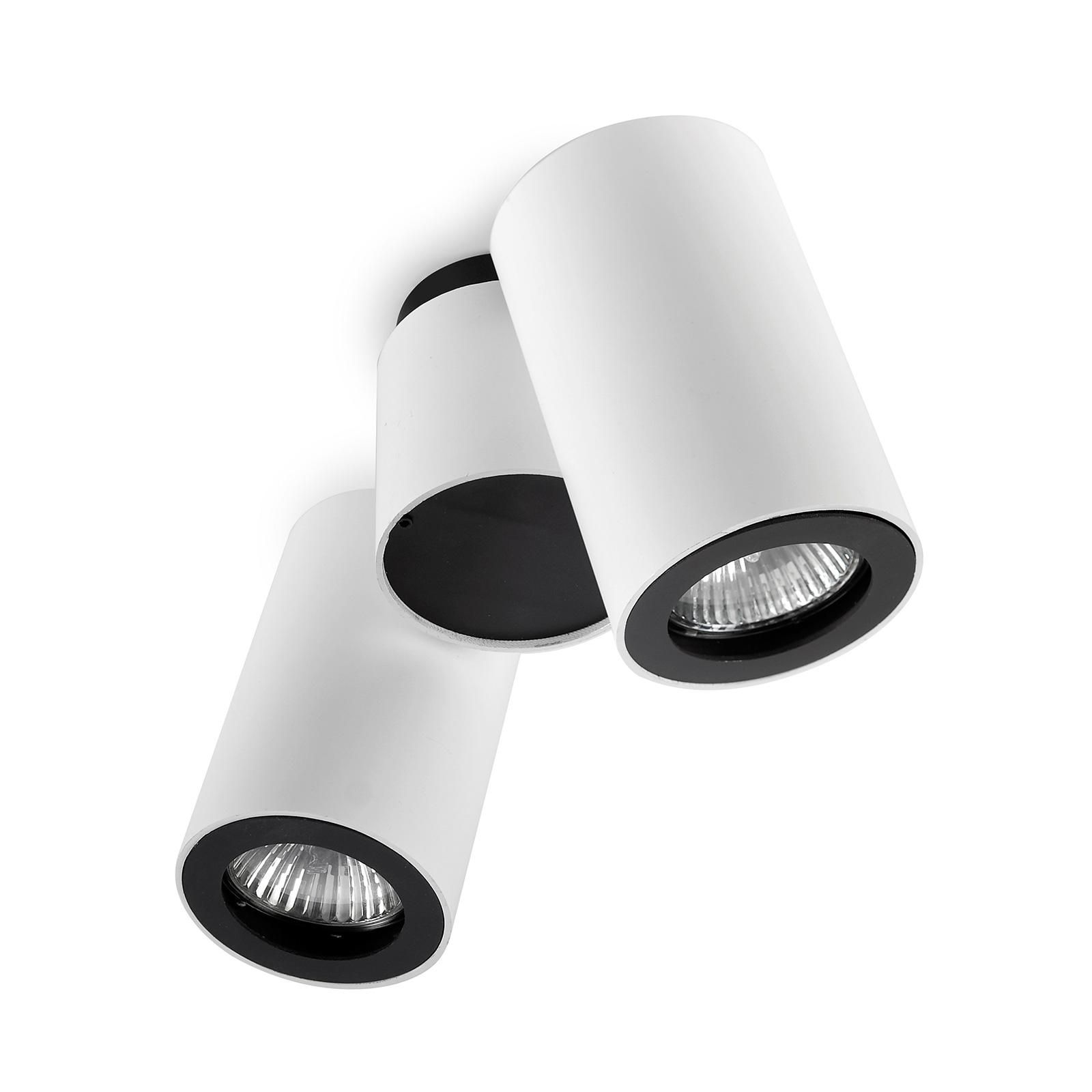LEDS-C4 Pipe takspot 2 lyskilder hvit-svart