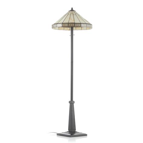 Bradley standerlampe i Tiffany-lignende stil