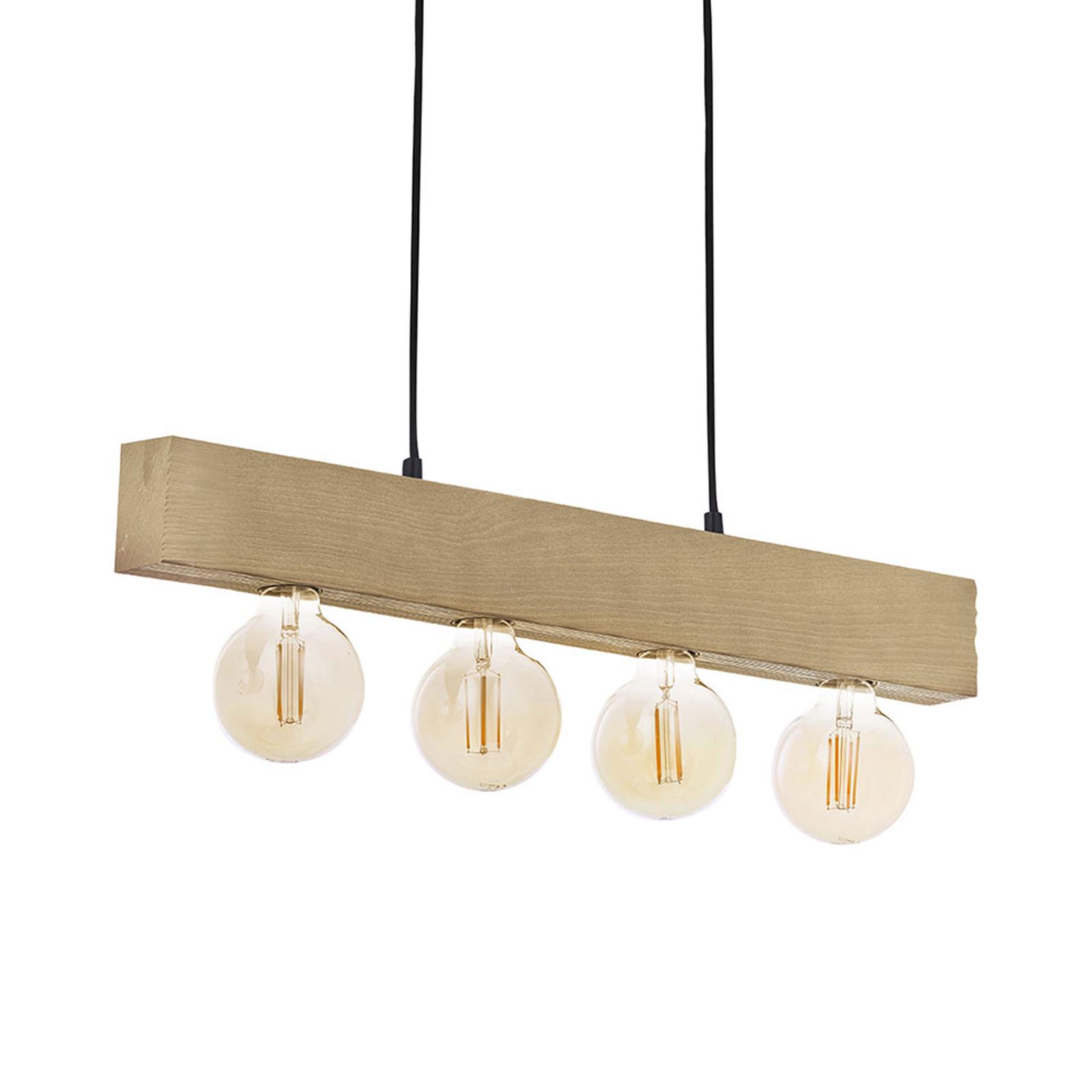 Houten hanglamp Artwood New, 4-lamps