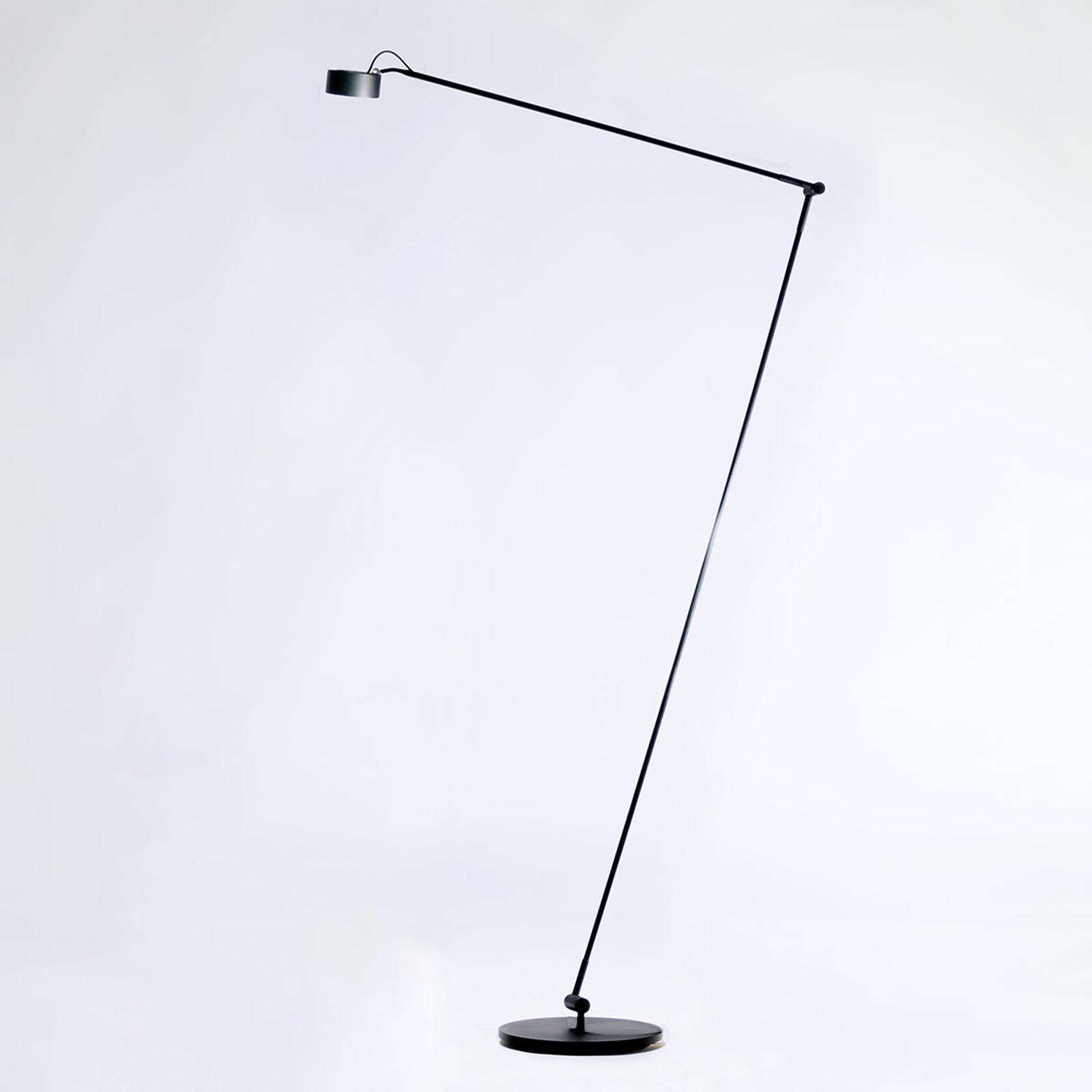 LED-Stehleuchte Basica 930 H mit Ausleger, schwarz