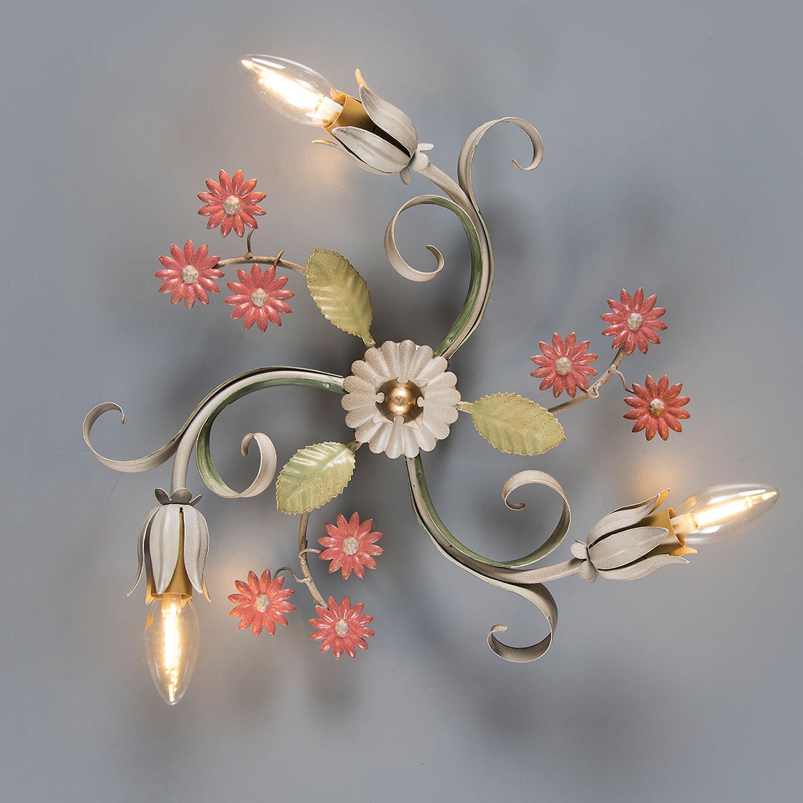 Toscana væglampe med 3 lyskilder, florentinsk