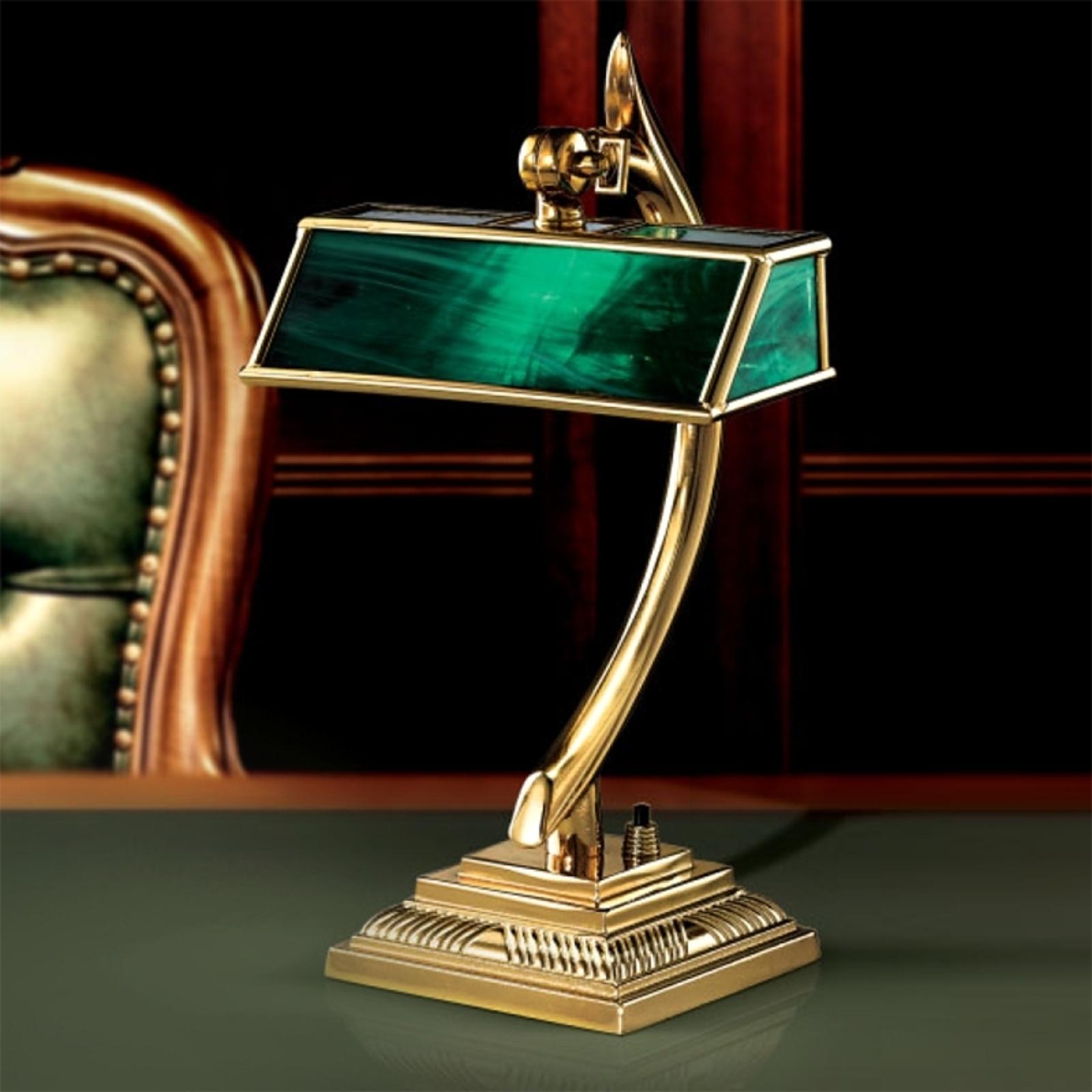Reprezentacyjna lampa stołowa Antiko