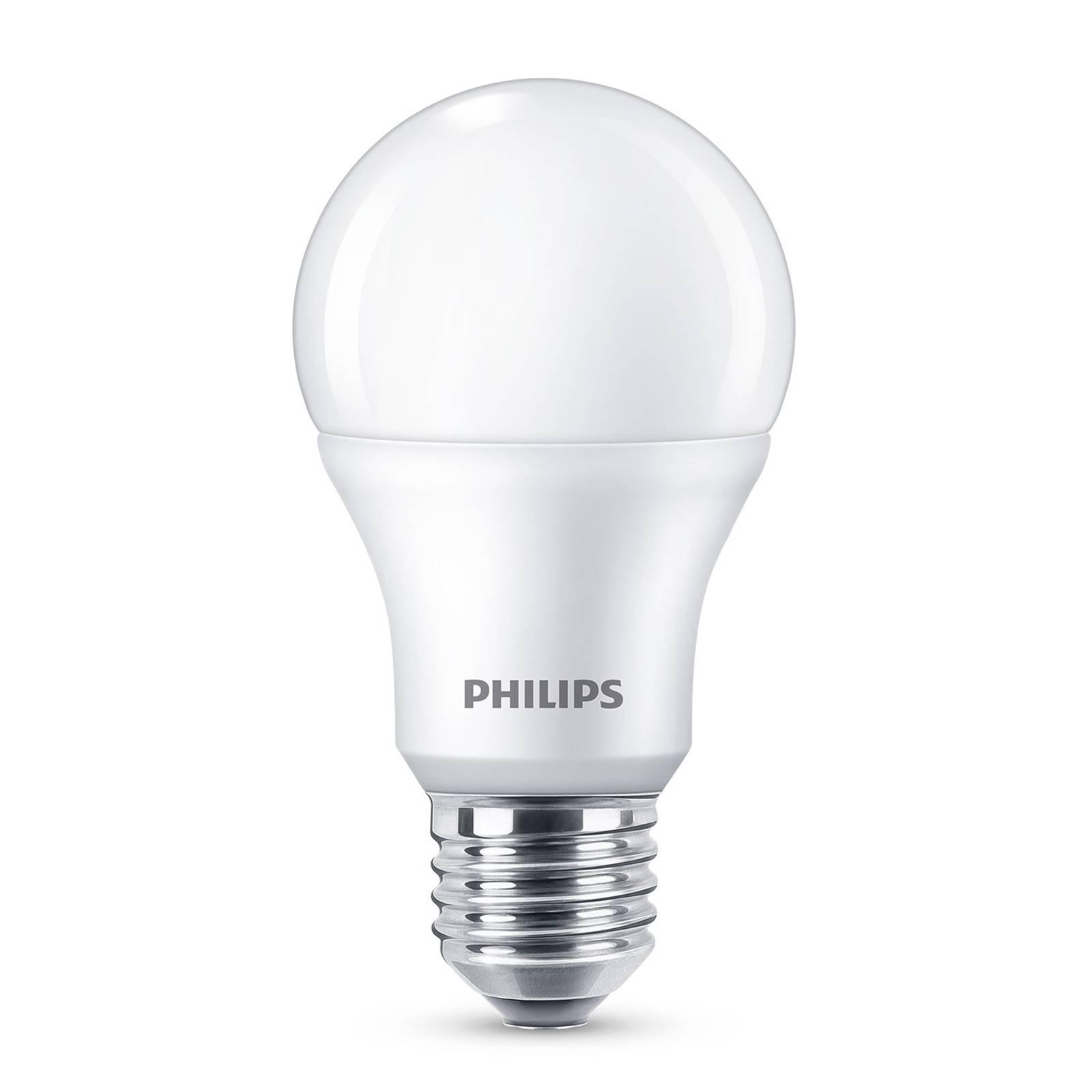 Philips E27 LED A60 8W 2.700K satinato set 4x
