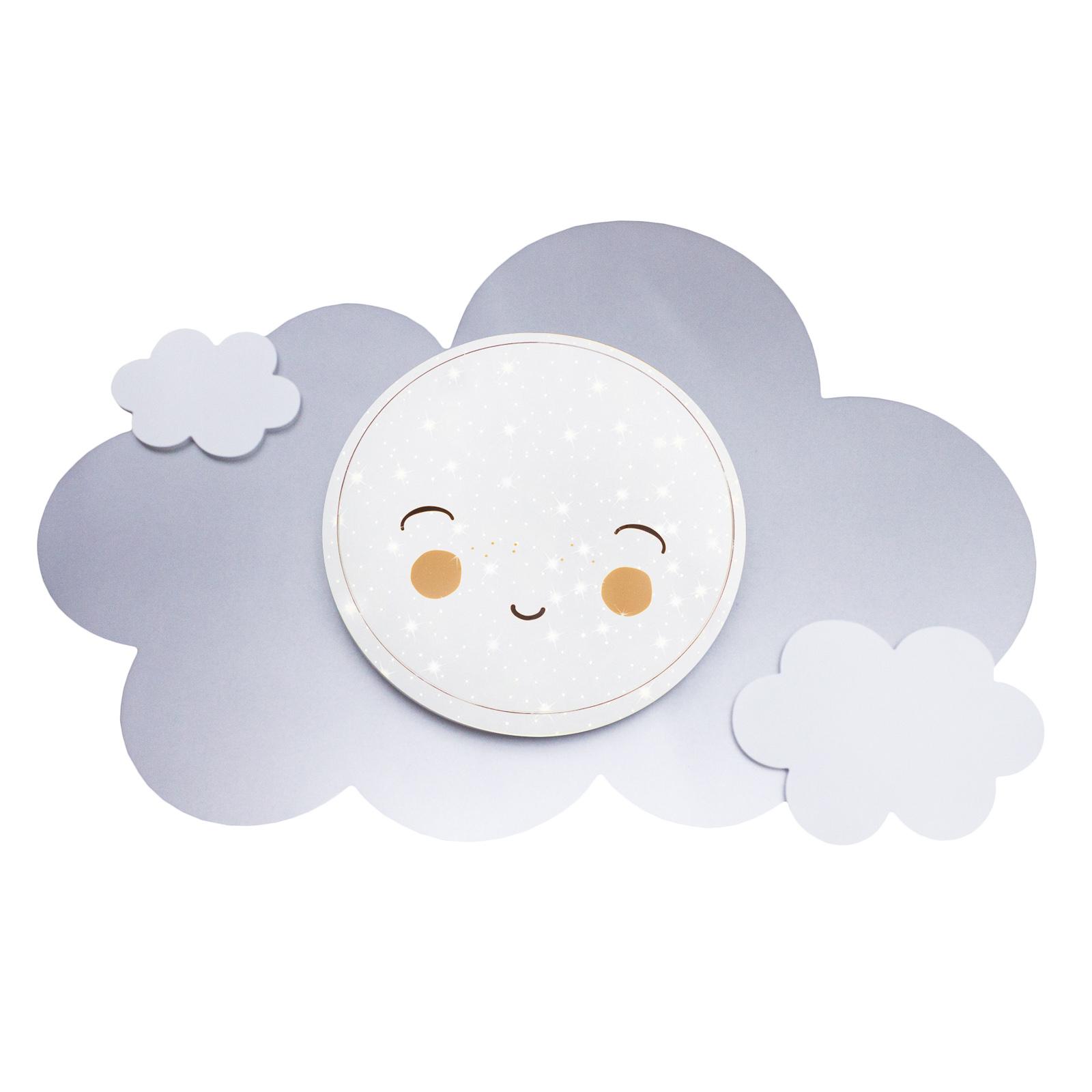 LED-vegglampe bildesky Starlight Smile, sølv